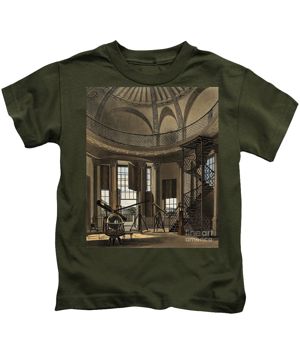 Historic Kids T-Shirt featuring the photograph Interior Of The Radcliffe Observatory by Wellcome Images