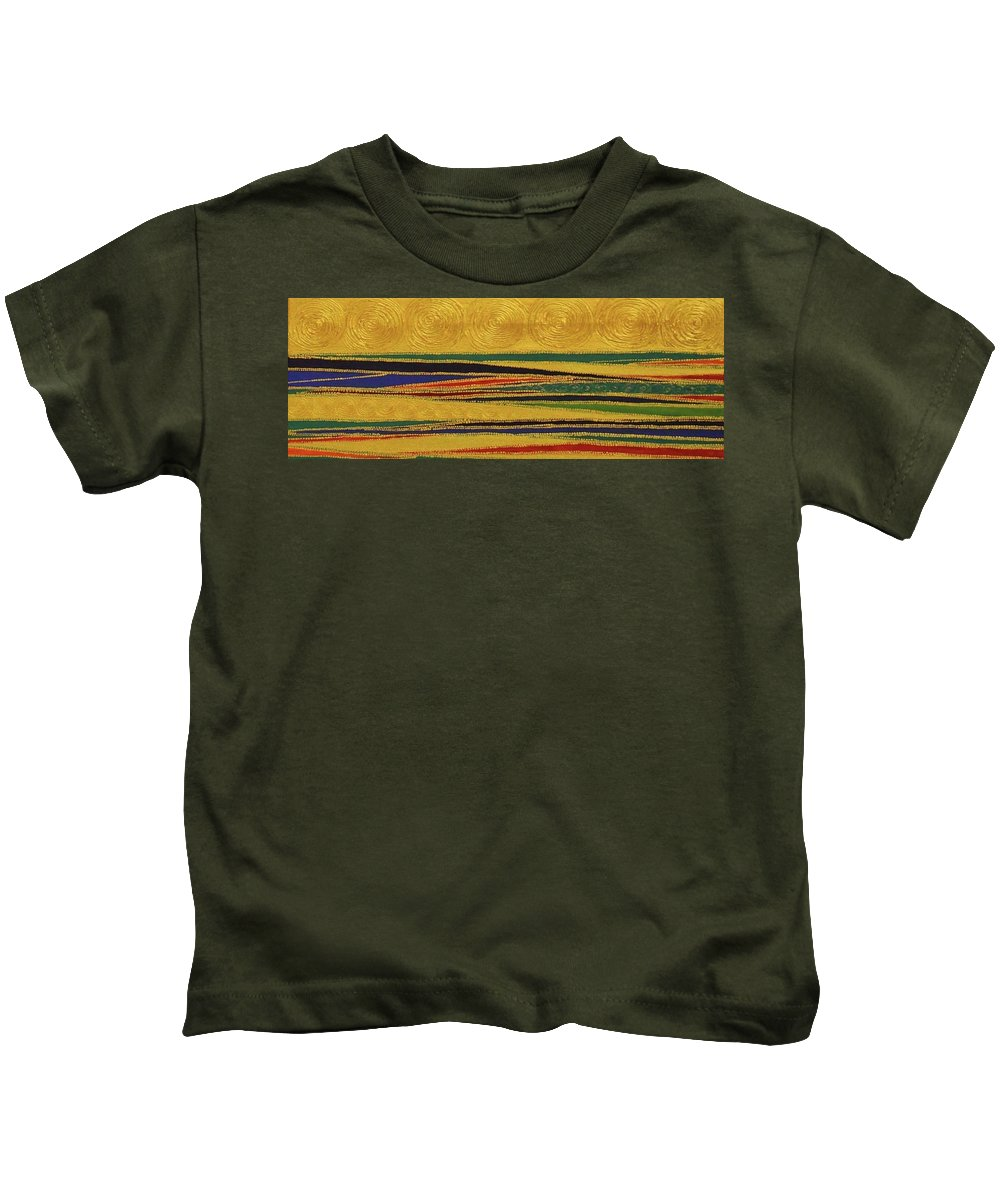 Kids T-Shirt featuring the painting Intersections by Arpita B Ruparel