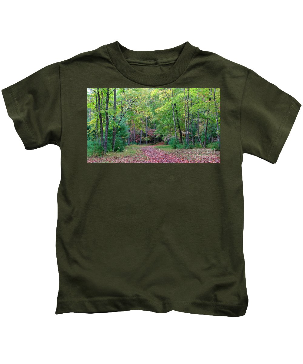 Landscape Kids T-Shirt featuring the photograph Into The Forest by Todd Blanchard
