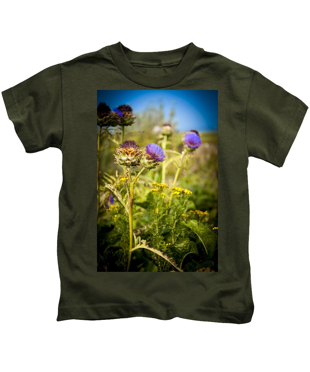 Scotland Kids T-Shirt featuring the photograph Iona Thistle by Laurence Ventress