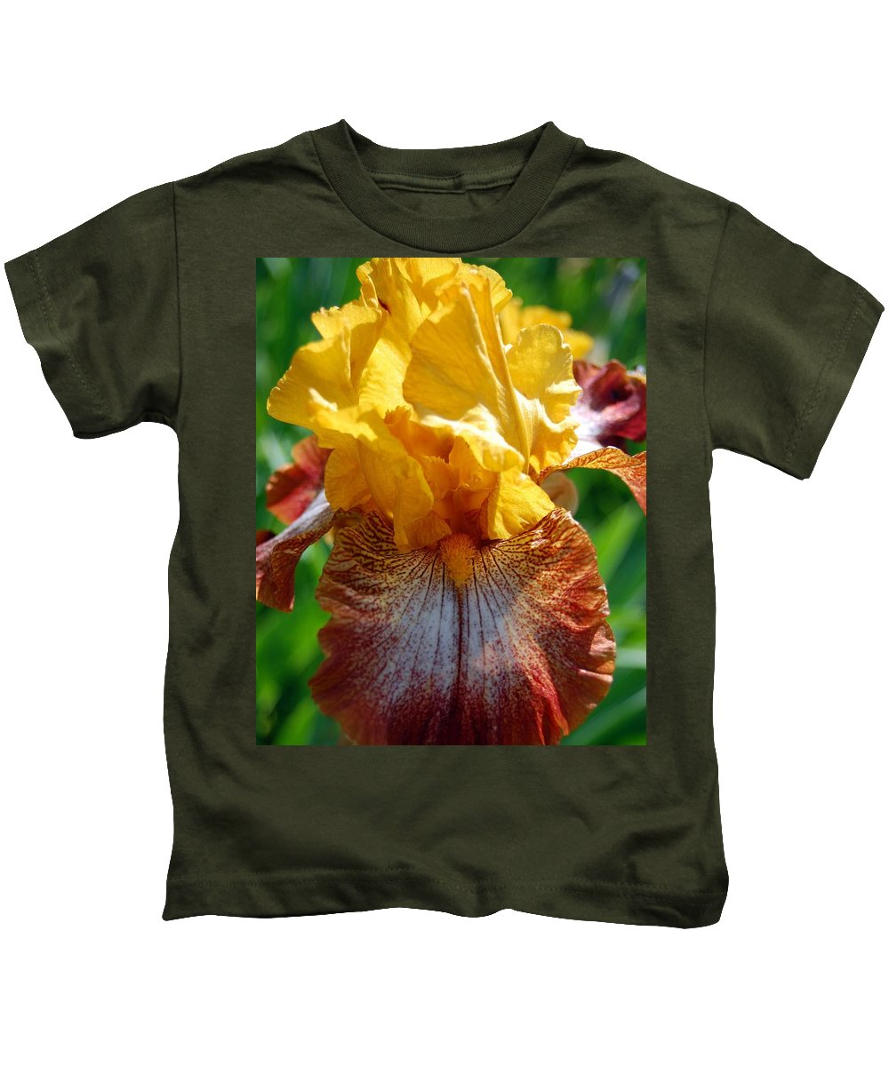Flower Kids T-Shirt featuring the photograph Iris 1 by Amy Fose