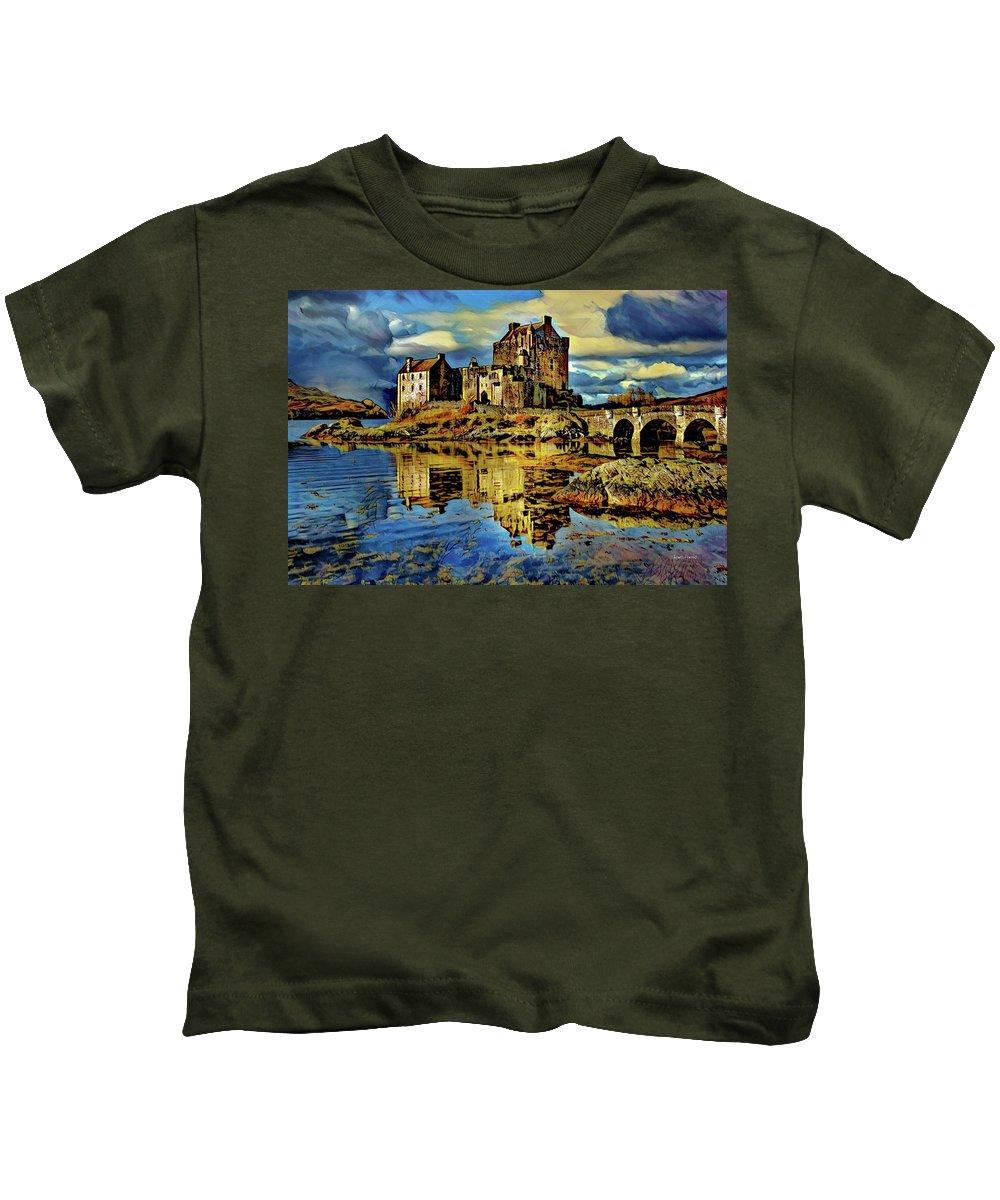 Eilean Donan Castle Digital Art Kids T-Shirts