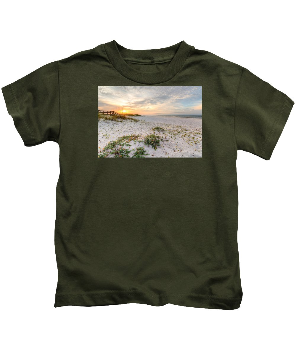 Clouds Kids T-Shirt featuring the photograph Island Time by Gary Oliver