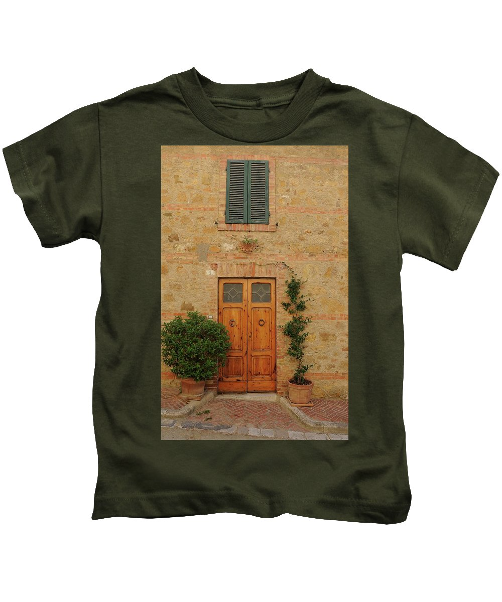 Europe Kids T-Shirt featuring the photograph Italy - Door Nine by Jim Benest
