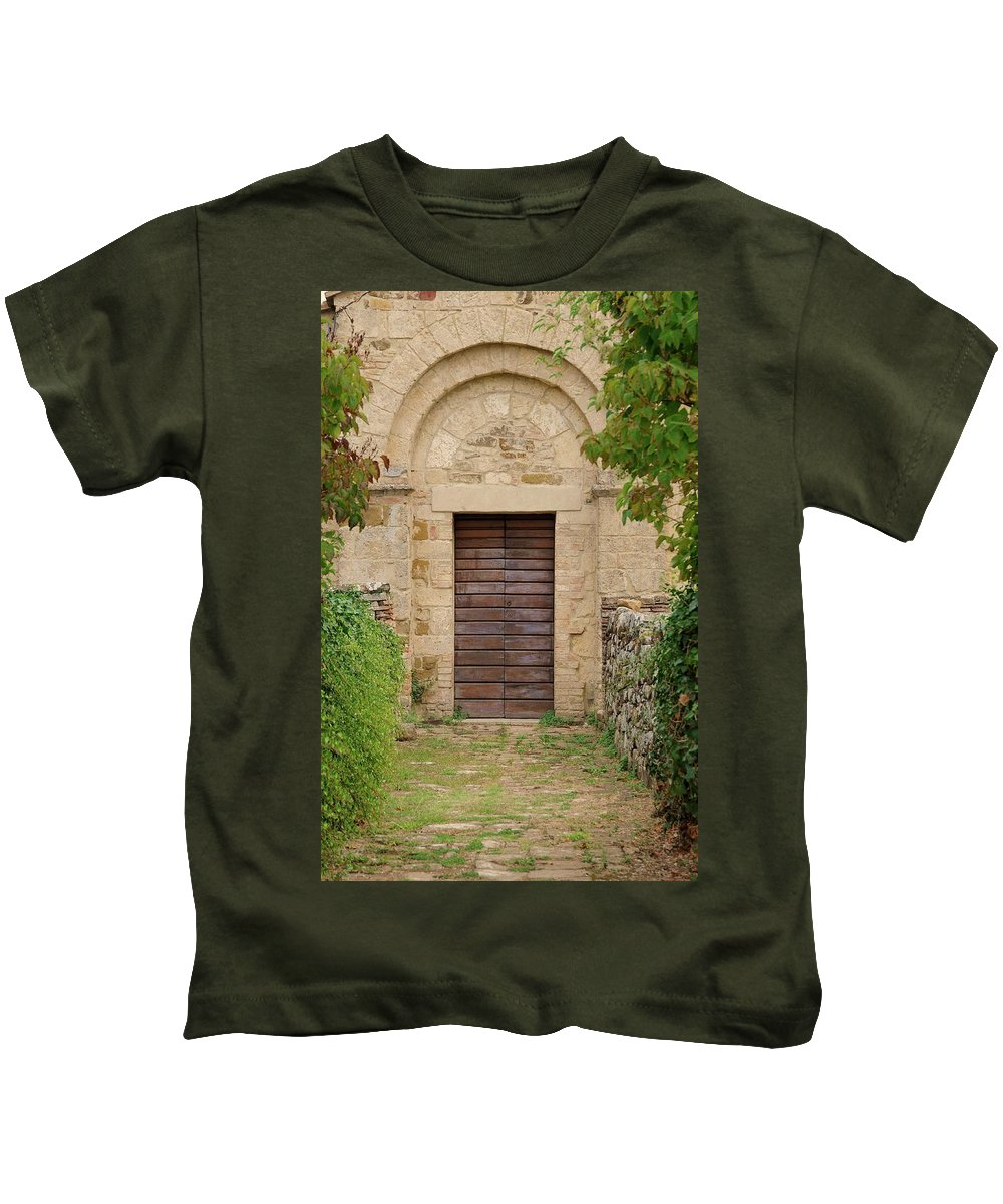 Italy Kids T-Shirt featuring the photograph Italy - Door Twenty Five by Jim Benest