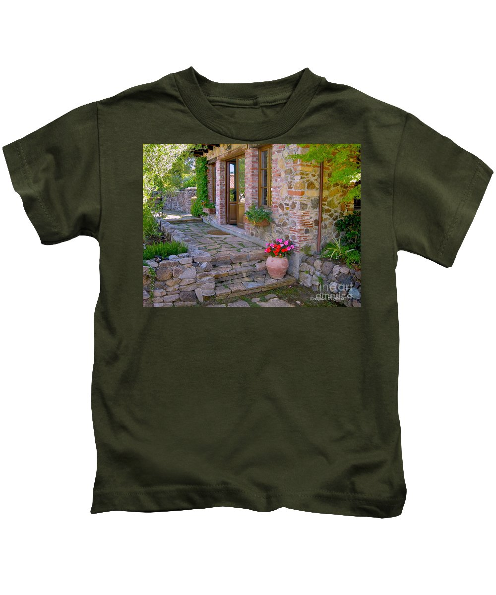 Cityscape Kids T-Shirt featuring the photograph Italy In Usa- California Home by Italian Art