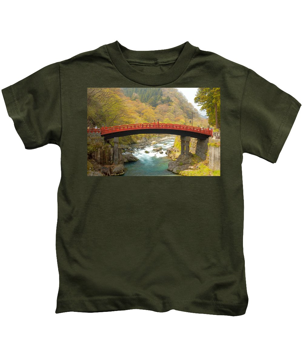 Japan Kids T-Shirt featuring the photograph Japanese Bridge by Sebastian Musial