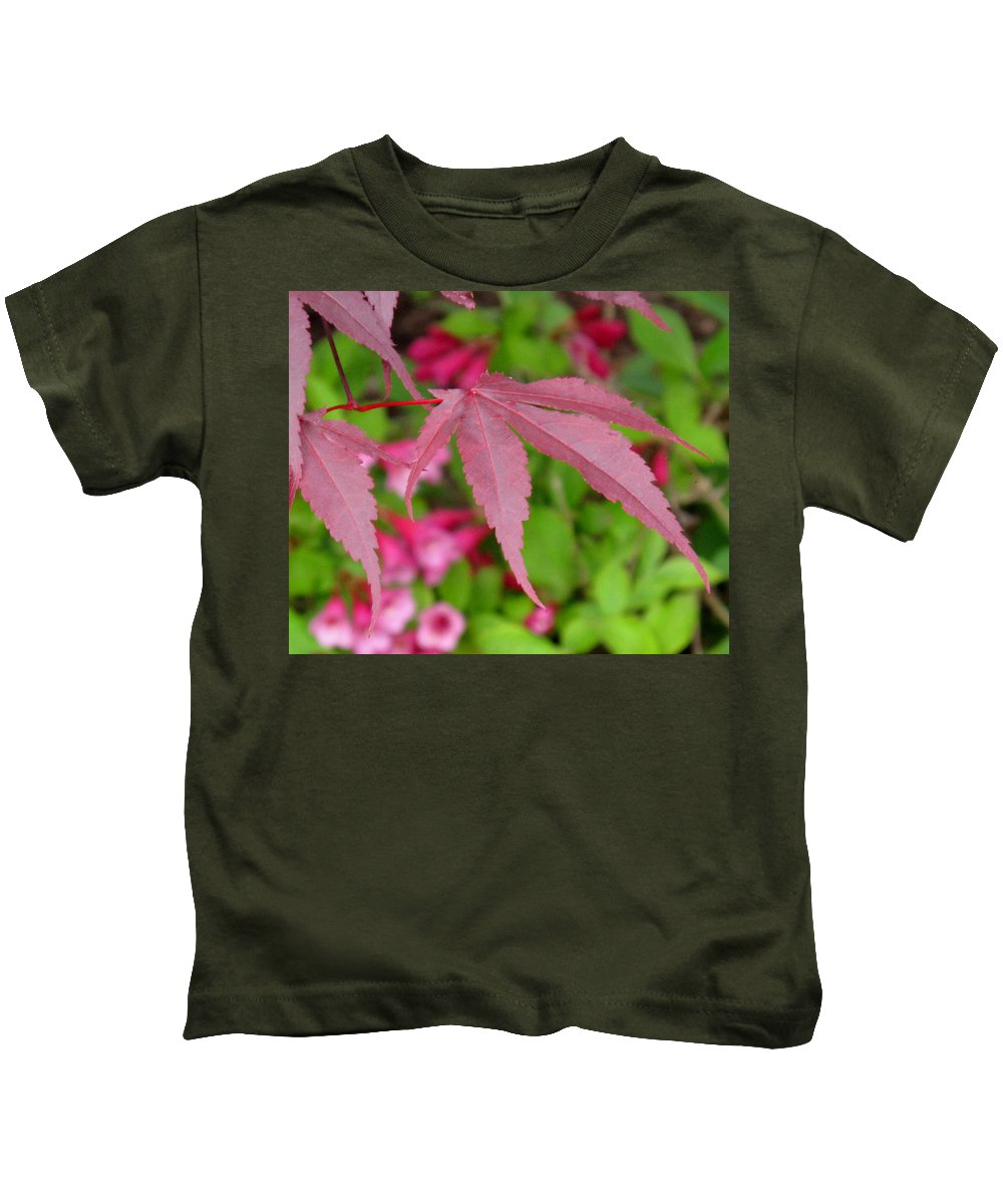 Japanese Maple Kids T-Shirt featuring the photograph Japanese Maple by Ian MacDonald
