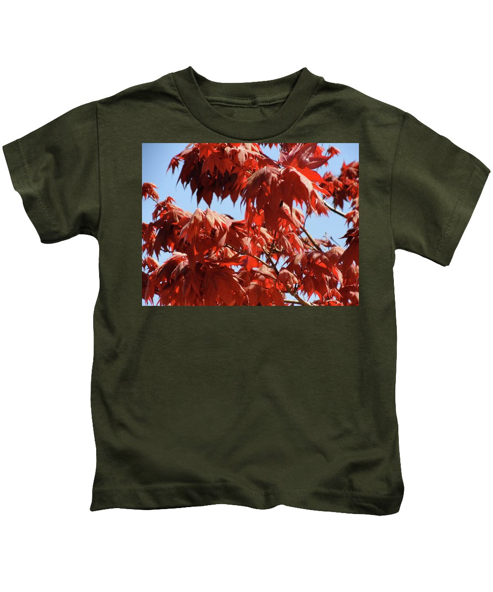 Japanese Maple Kids T-Shirt featuring the photograph Japanese Maple by Shannon Grissom
