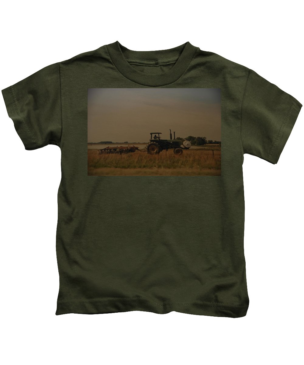 Arkansas Kids T-Shirt featuring the photograph John Deere Arkansas by Rob Hans