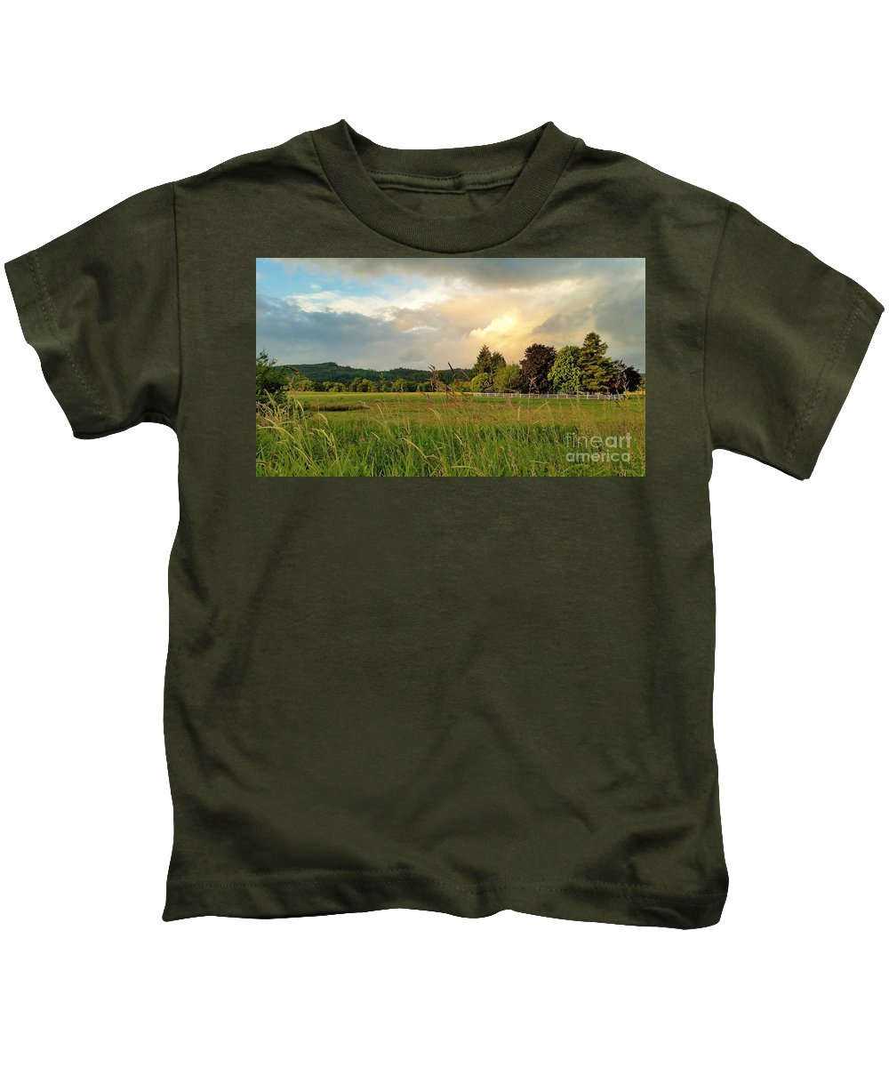 Landscape Kids T-Shirt featuring the photograph Sunset After Storm by Jane Powell
