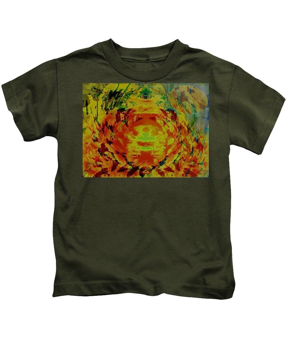 Flowers Kids T-Shirt featuring the digital art Just Flowers by Helmut Rottler