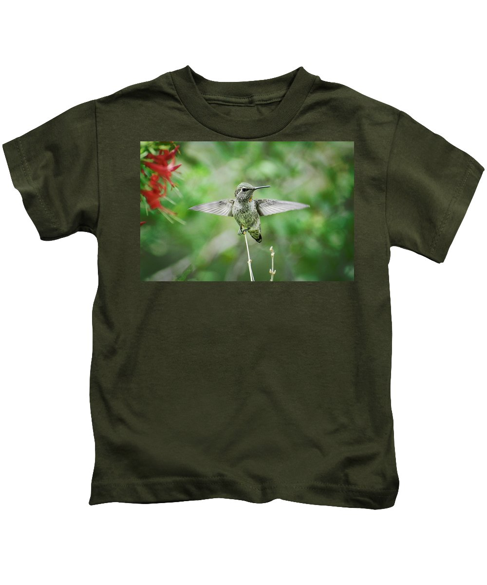 Hummingbird Kids T-Shirt featuring the photograph Just Spread Your Wings by Saija Lehtonen