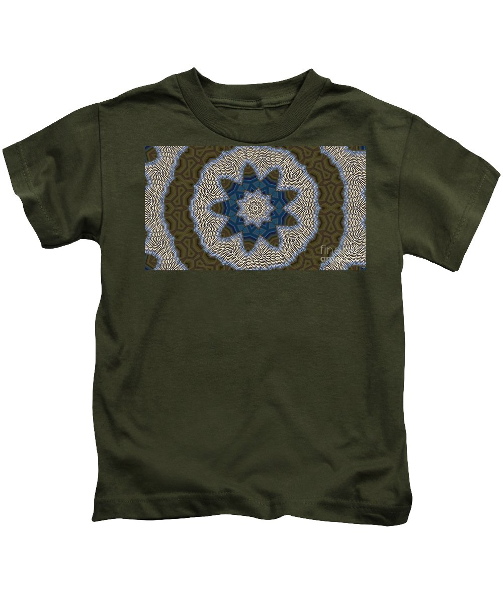 Kaleidoscope Kids T-Shirt featuring the digital art Kaleidoscope 87 by Ron Bissett