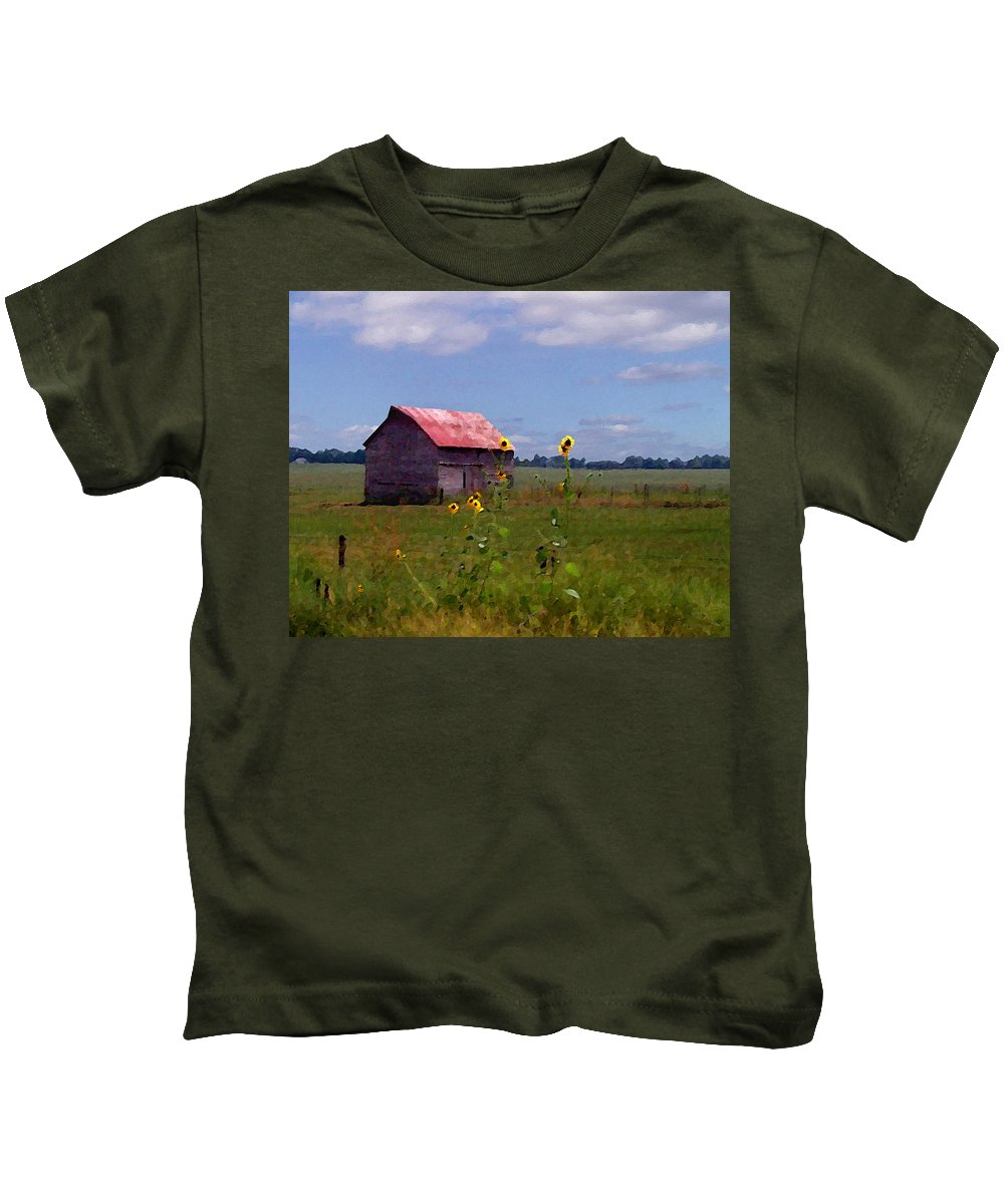 Landscape Kids T-Shirt featuring the photograph Kansas Landscape by Steve Karol