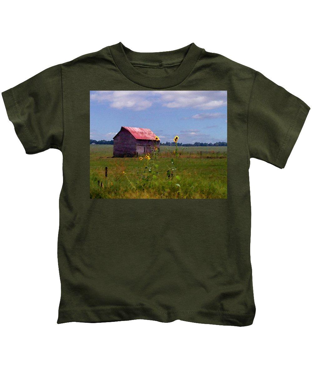 Lanscape Kids T-Shirt featuring the photograph Kansas Landscape by Steve Karol