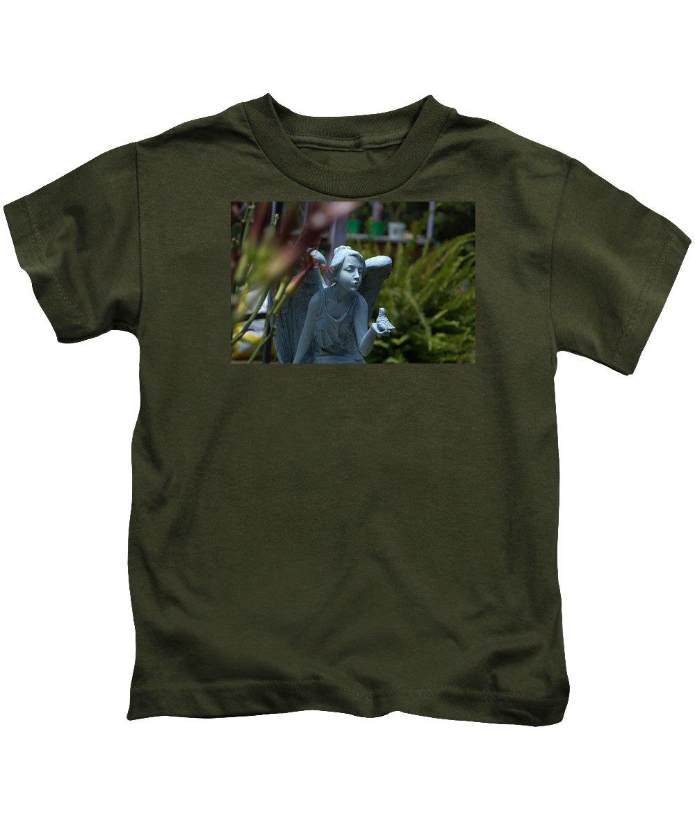 Garden Kids T-Shirt featuring the photograph Keeper Of The Gardens by Chris Thibodeau