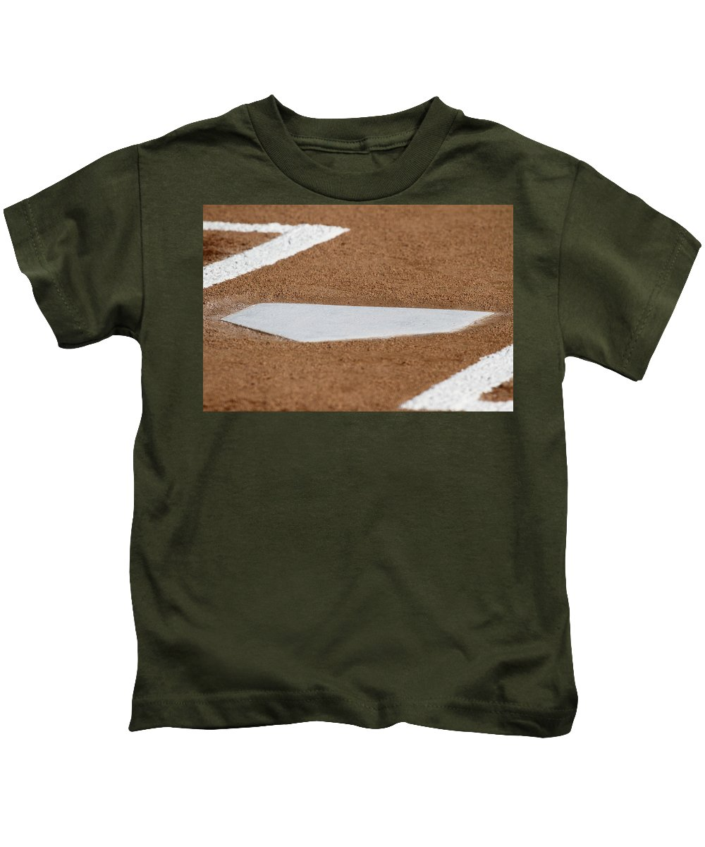 Home Plate Kids T-Shirt featuring the photograph Keeping A Clean House by Laddie Halupa
