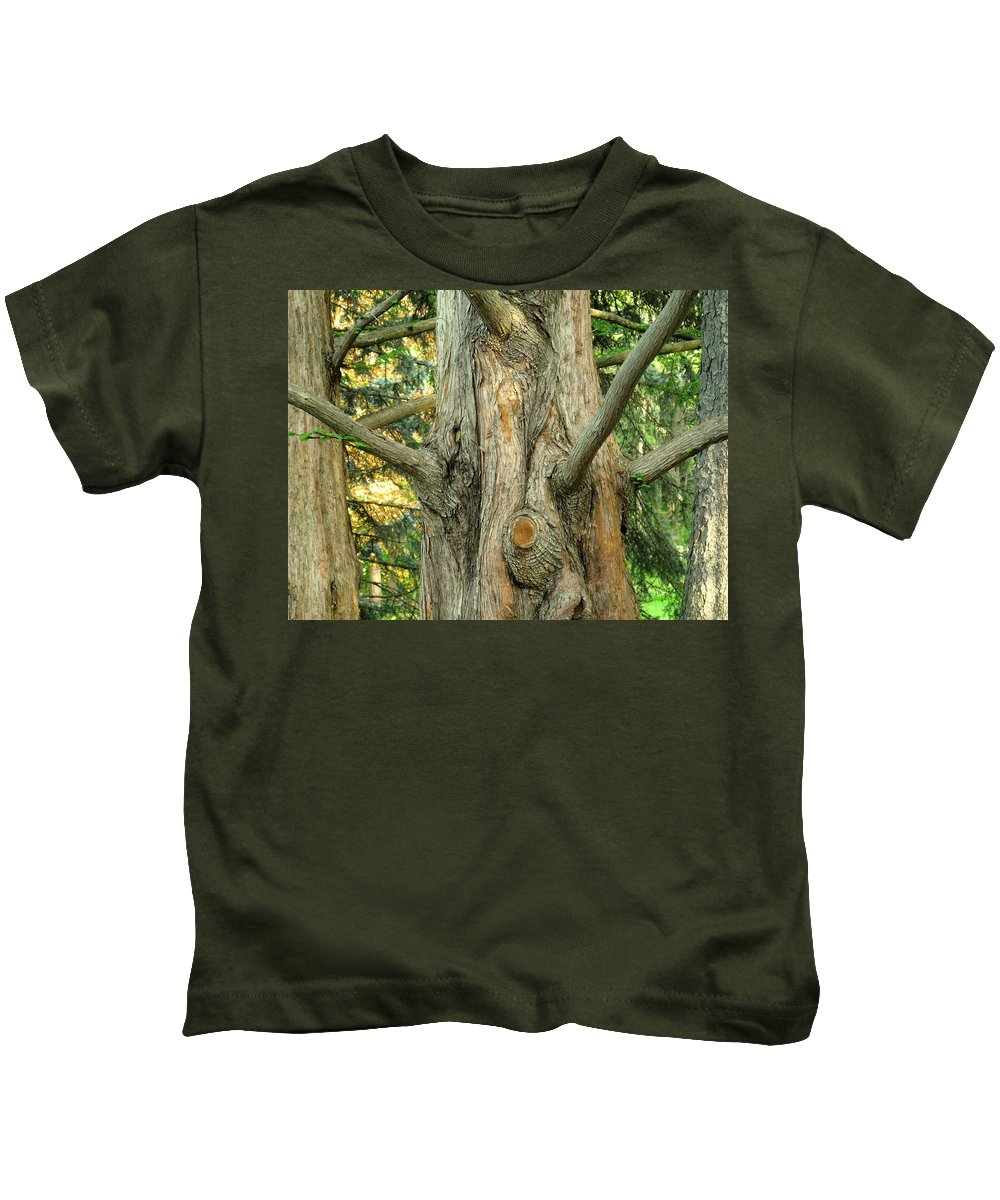 Tree Kids T-Shirt featuring the photograph Knarled by Ian MacDonald