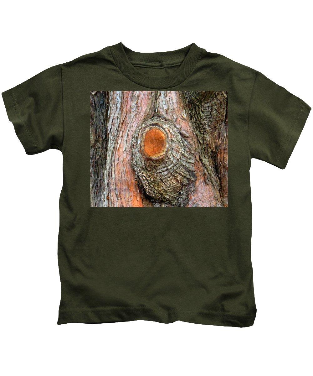 Tree Kids T-Shirt featuring the photograph Knot by Ian MacDonald