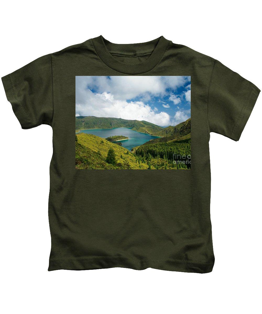 Lagoa Do Fogo Kids T-Shirt featuring the photograph Lagoa Do Fogo by Gaspar Avila