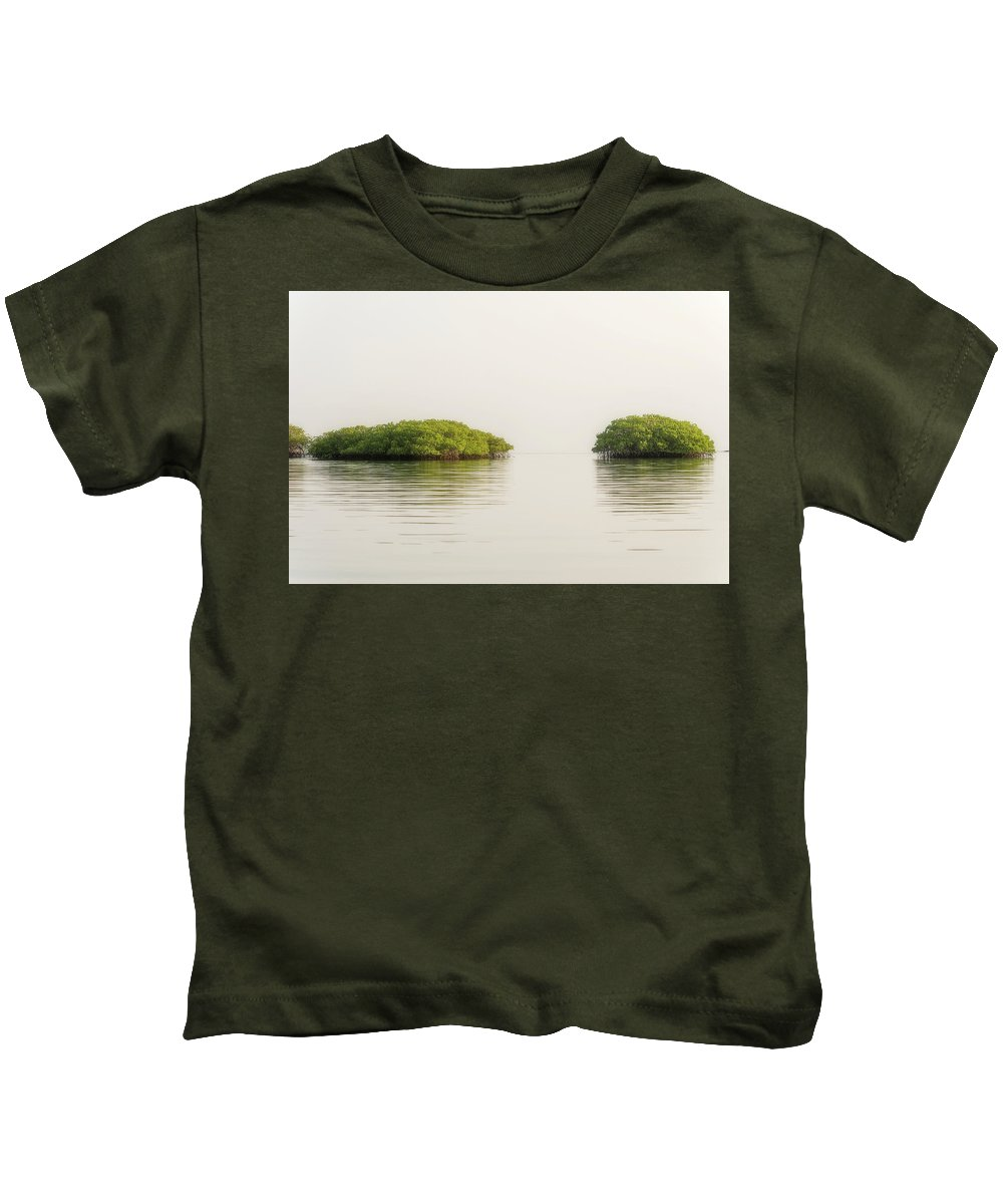 Trees Kids T-Shirt featuring the photograph Lagoon In Santa Cruz Island In Galapagos by Marek Poplawski