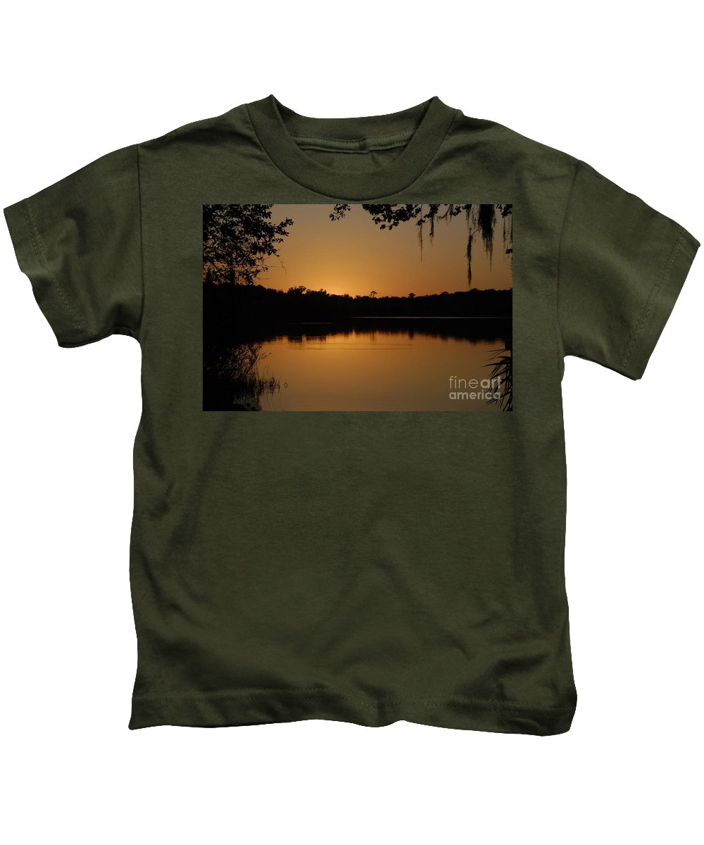 Lake Kids T-Shirt featuring the photograph Lake Reflections by David Lee Thompson