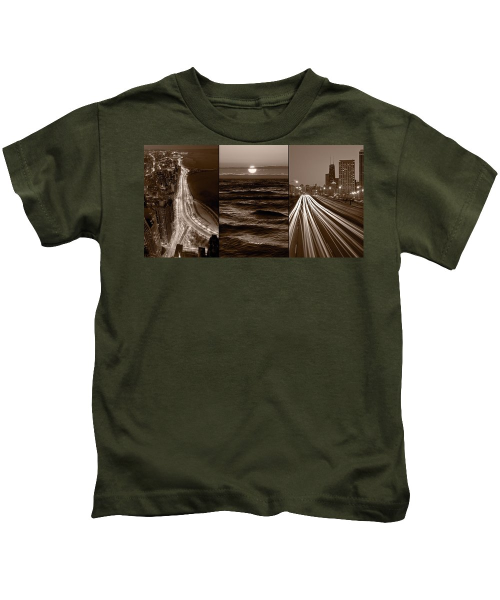 Chicago Kids T-Shirt featuring the photograph Lakeshore Chicago by Steve Gadomski