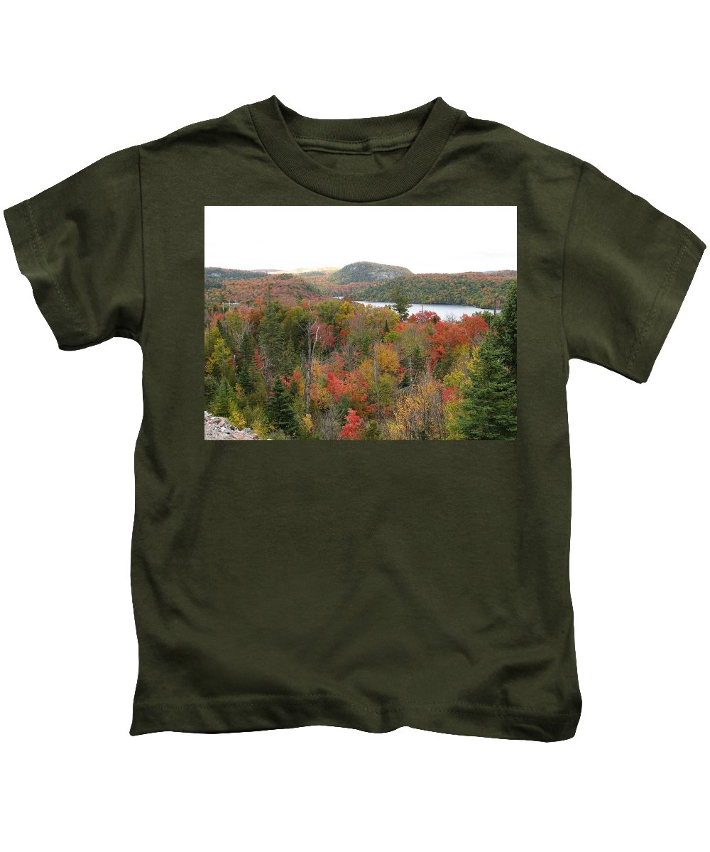 Fall Kids T-Shirt featuring the photograph Lakeside by Kelly Mezzapelle