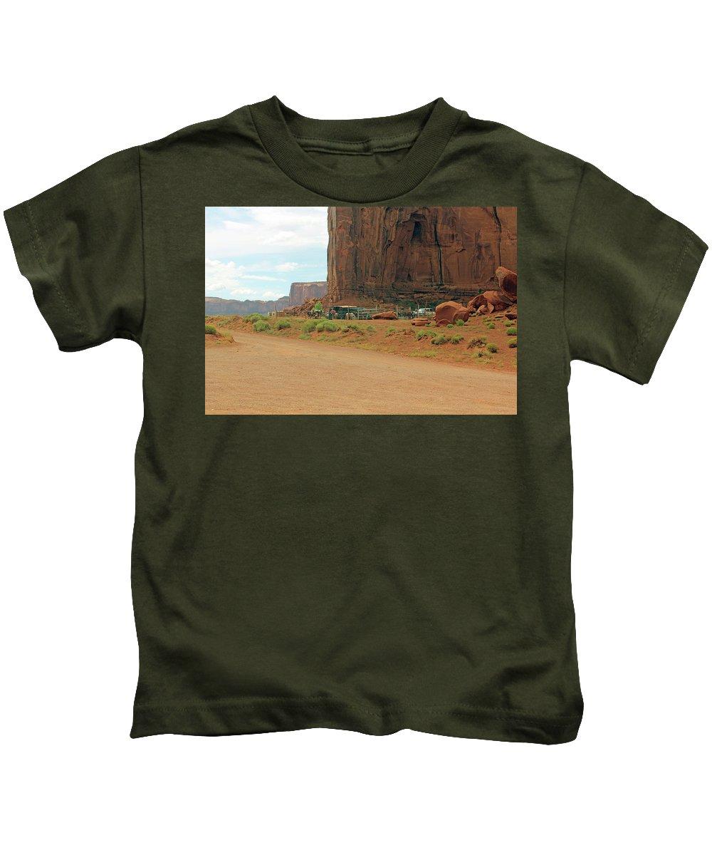 Ancestors Kids T-Shirt featuring the photograph Land Of The Ancestors by Michel Poulin