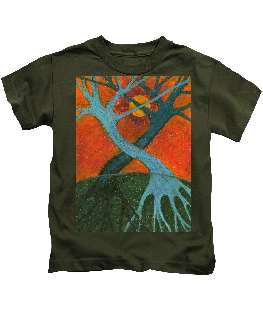 Colour Kids T-Shirt featuring the painting Lapse by Wojtek Kowalski