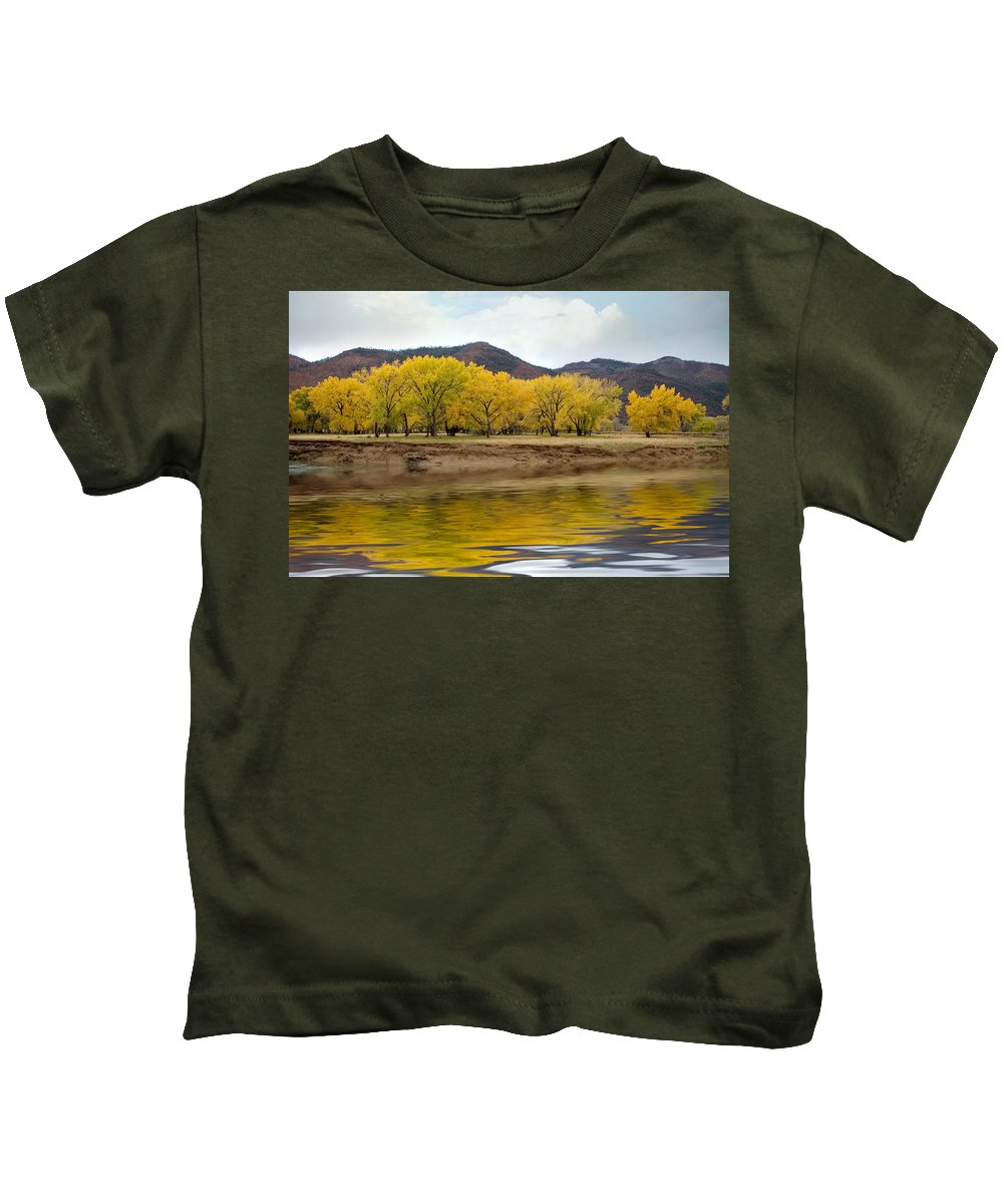 River Kids T-Shirt featuring the photograph Las Animas Fall by Jerry McElroy