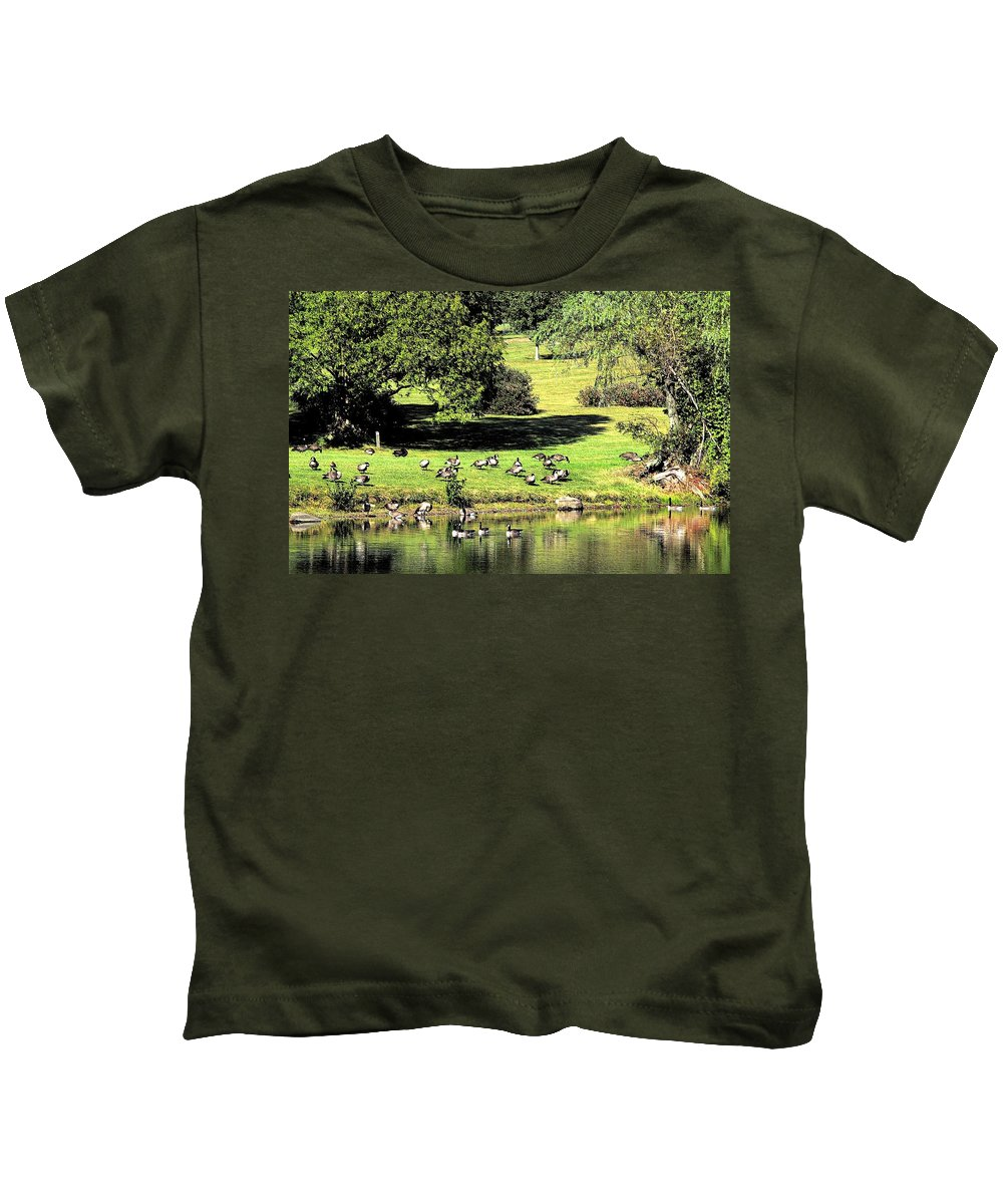 Bird Kids T-Shirt featuring the photograph Last Days Of Summer by Gaby Swanson