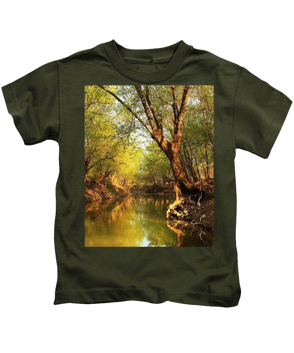 Nature Kids T-Shirt featuring the photograph Lazy Afternoon On The Creek 2 by Greg Matchick