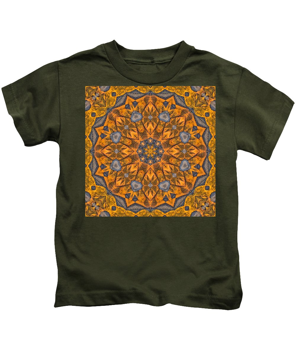 Kaleidoscope Kids T-Shirt featuring the photograph Leaf Glow by Lyle Hatch