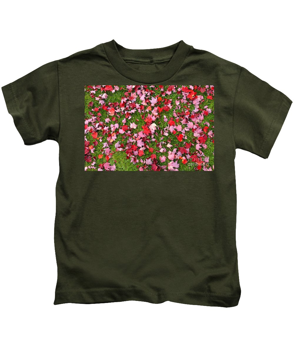 Leafs Kids T-Shirt featuring the photograph Leafs On Grass by David Lee Thompson