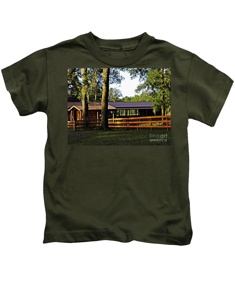 Ranch Kids T-Shirt featuring the photograph Lee's Ranch 5 by Sarah Loft