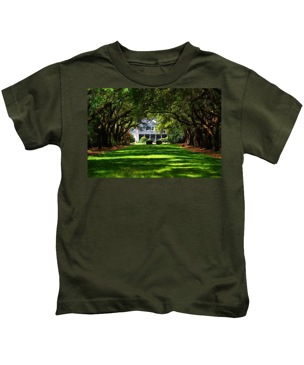 Photography Kids T-Shirt featuring the photograph Legare Waring House Charleston Sc by Susanne Van Hulst