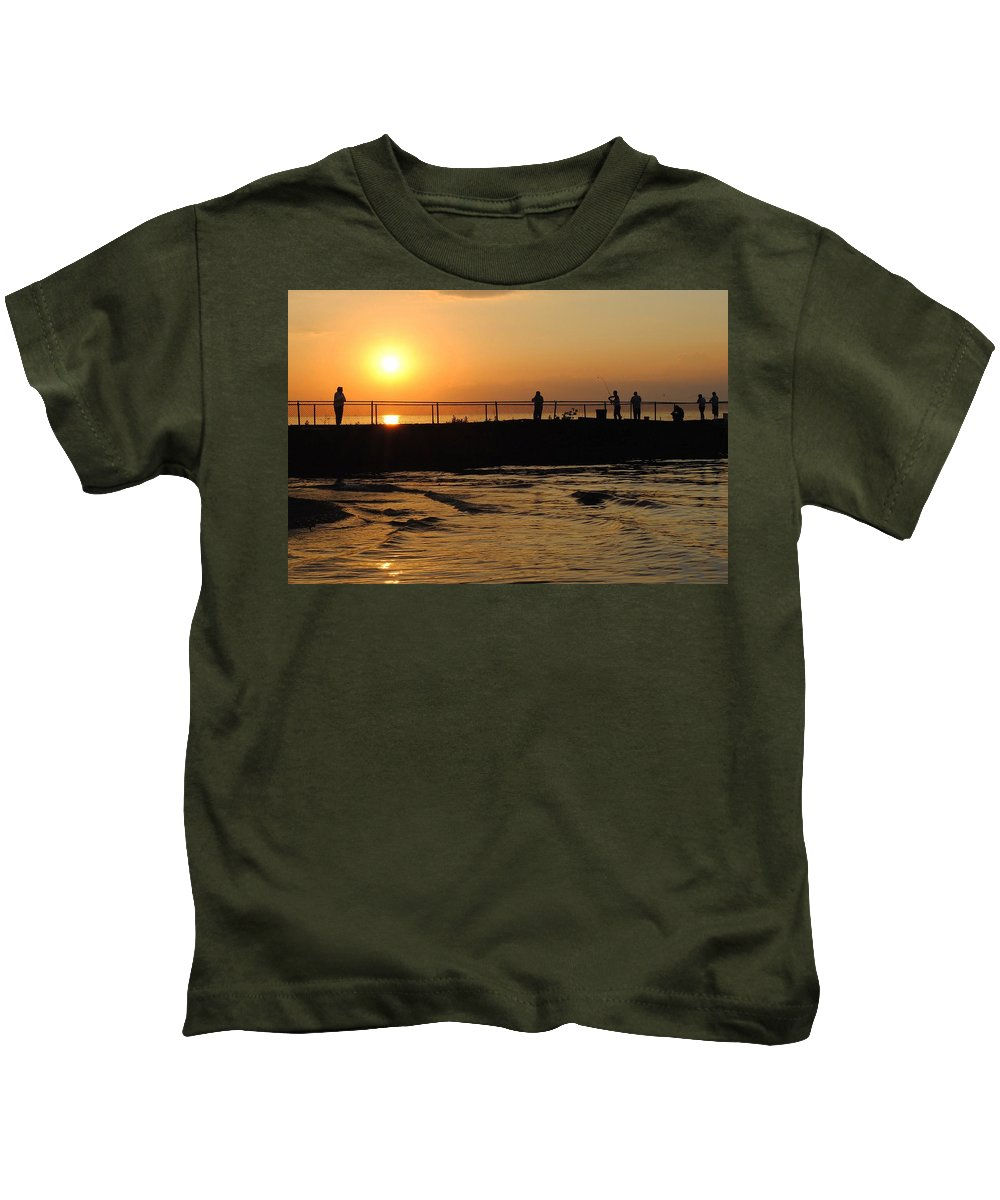 Weekend Kids T-Shirt featuring the photograph Leisure Weekend by Frozen in Time Fine Art Photography