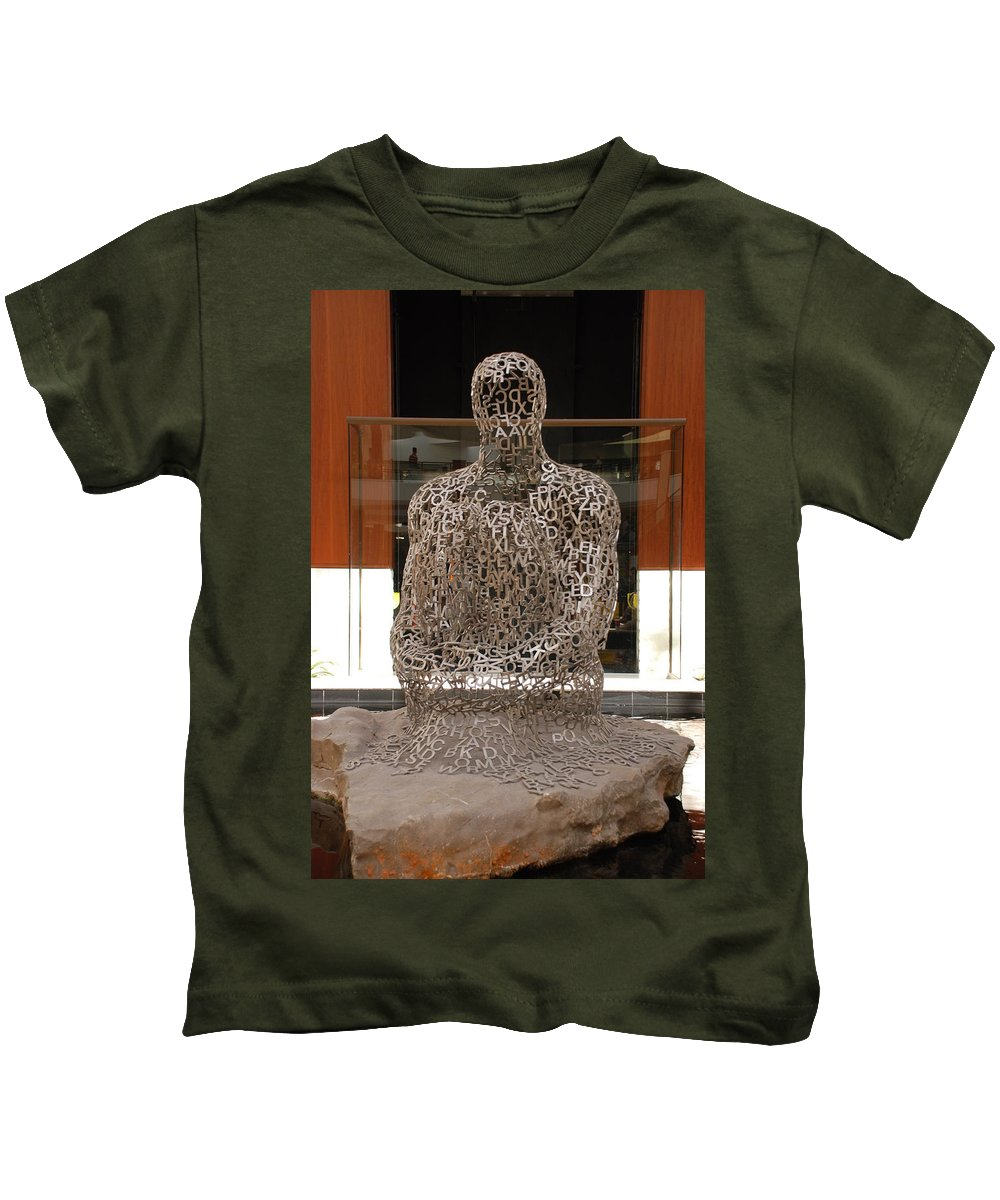 Scultures Kids T-Shirt featuring the photograph Letter Man In Color by Rob Hans