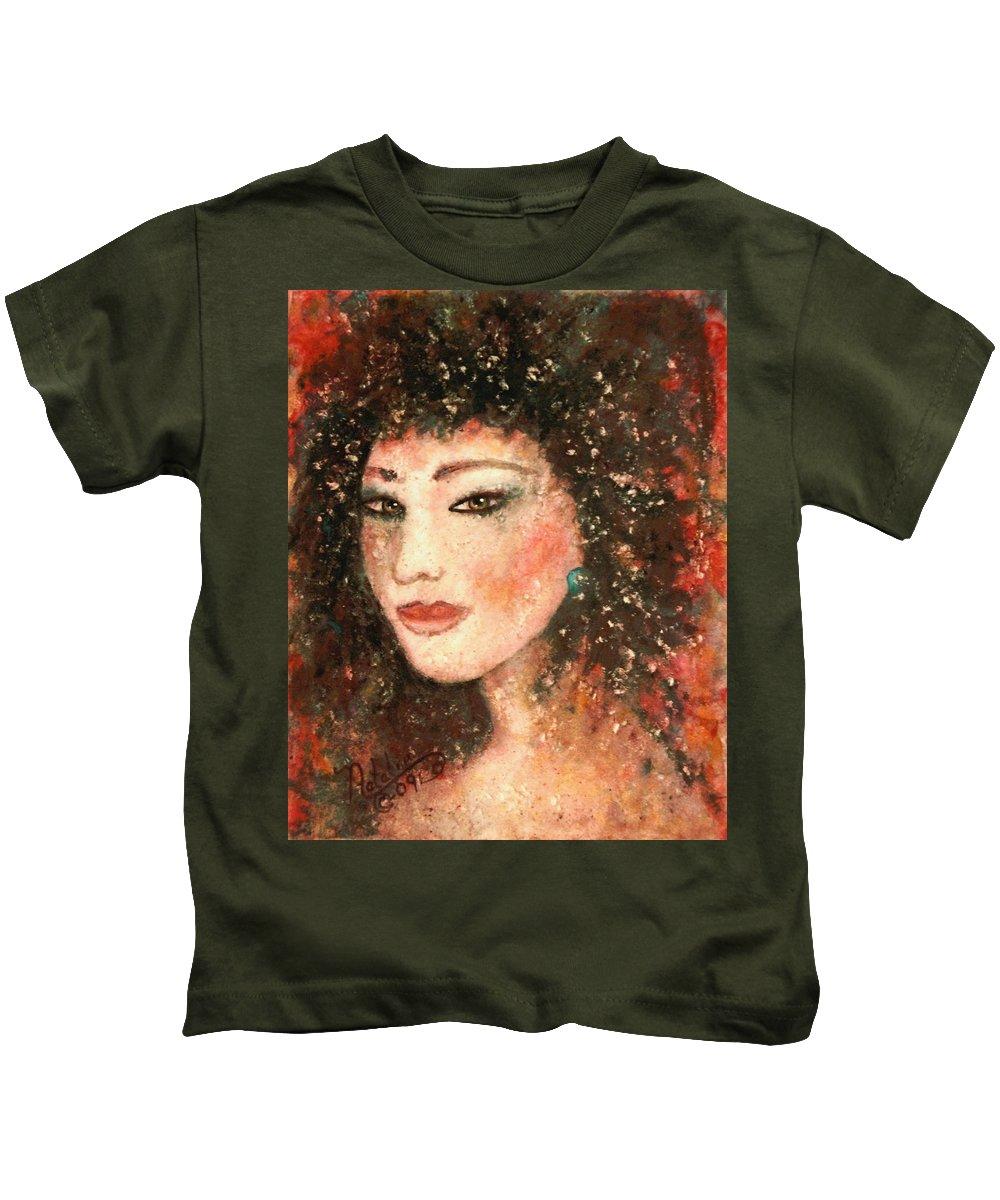 Asian Woman Kids T-Shirt featuring the painting Li Lin Lin Lian by Natalie Holland