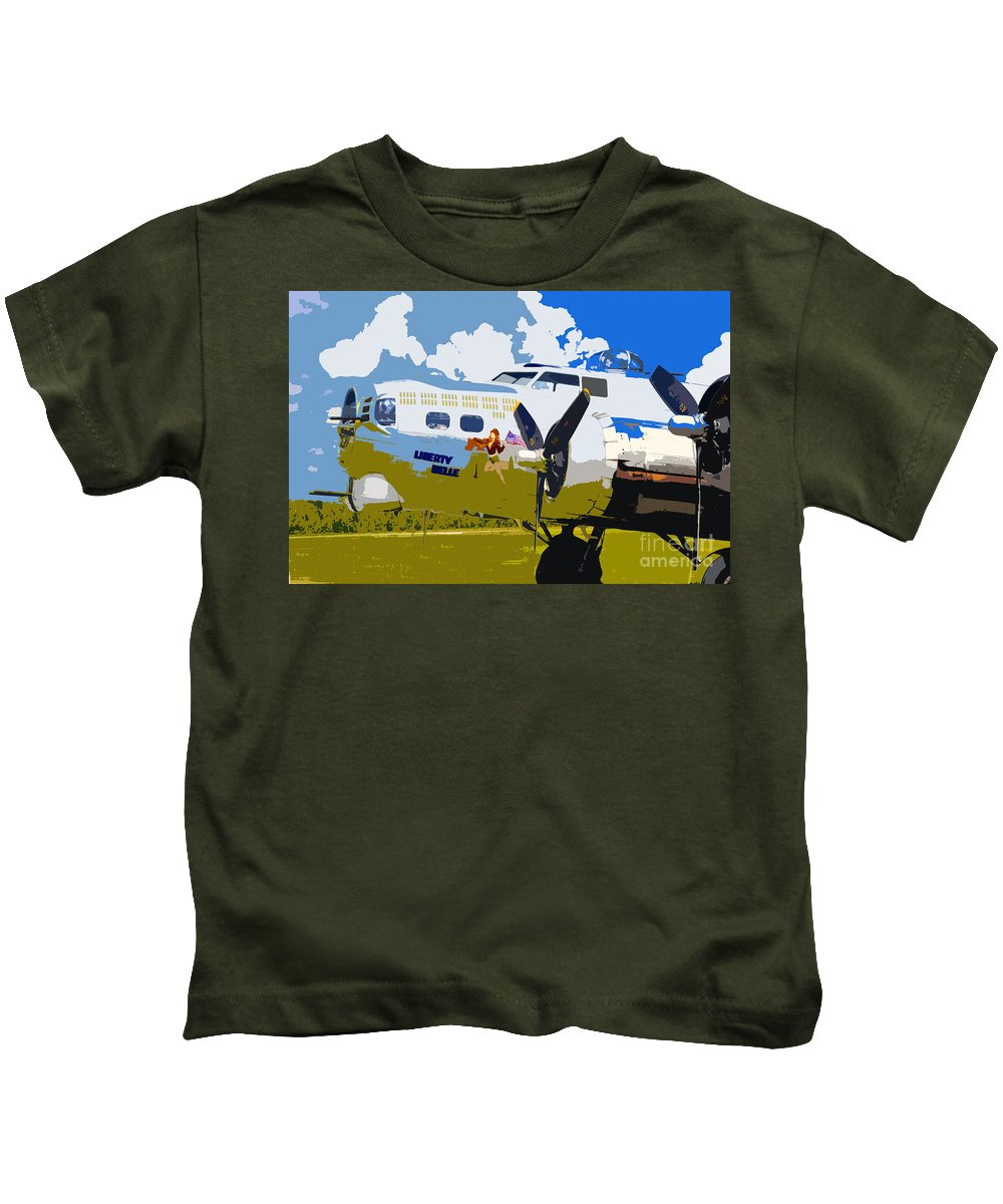 Flying Fortress Kids T-Shirt featuring the photograph Liberty Belle by David Lee Thompson