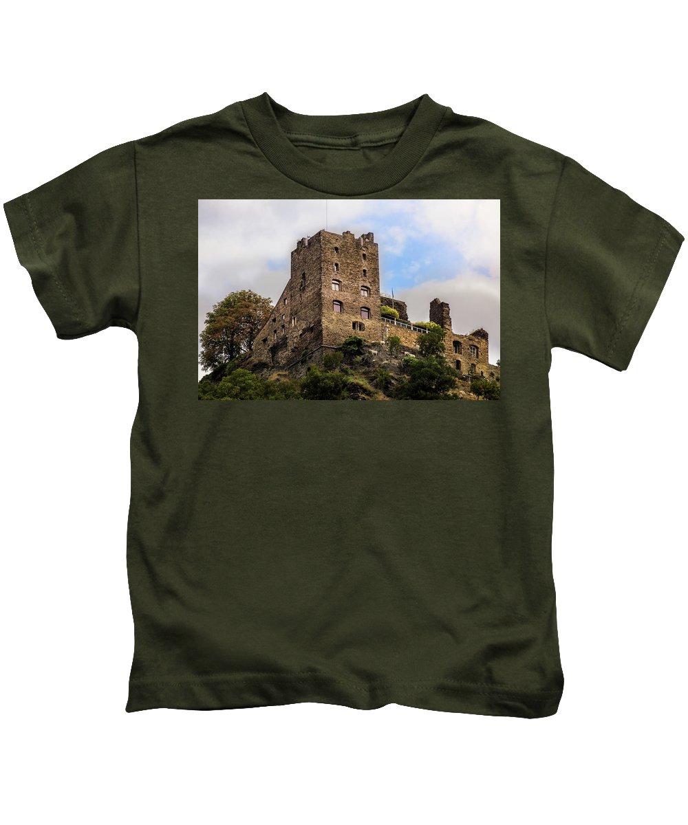 Castle Kids T-Shirt featuring the photograph Liebenstein Castle by Ronald Kotinsky