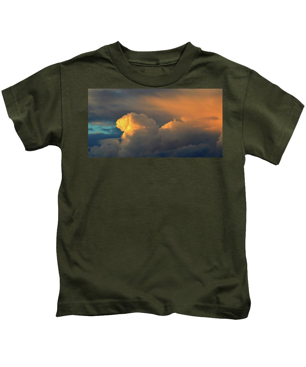 Abstract Kids T-Shirt featuring the photograph Light On The Clouds Two by Lyle Crump