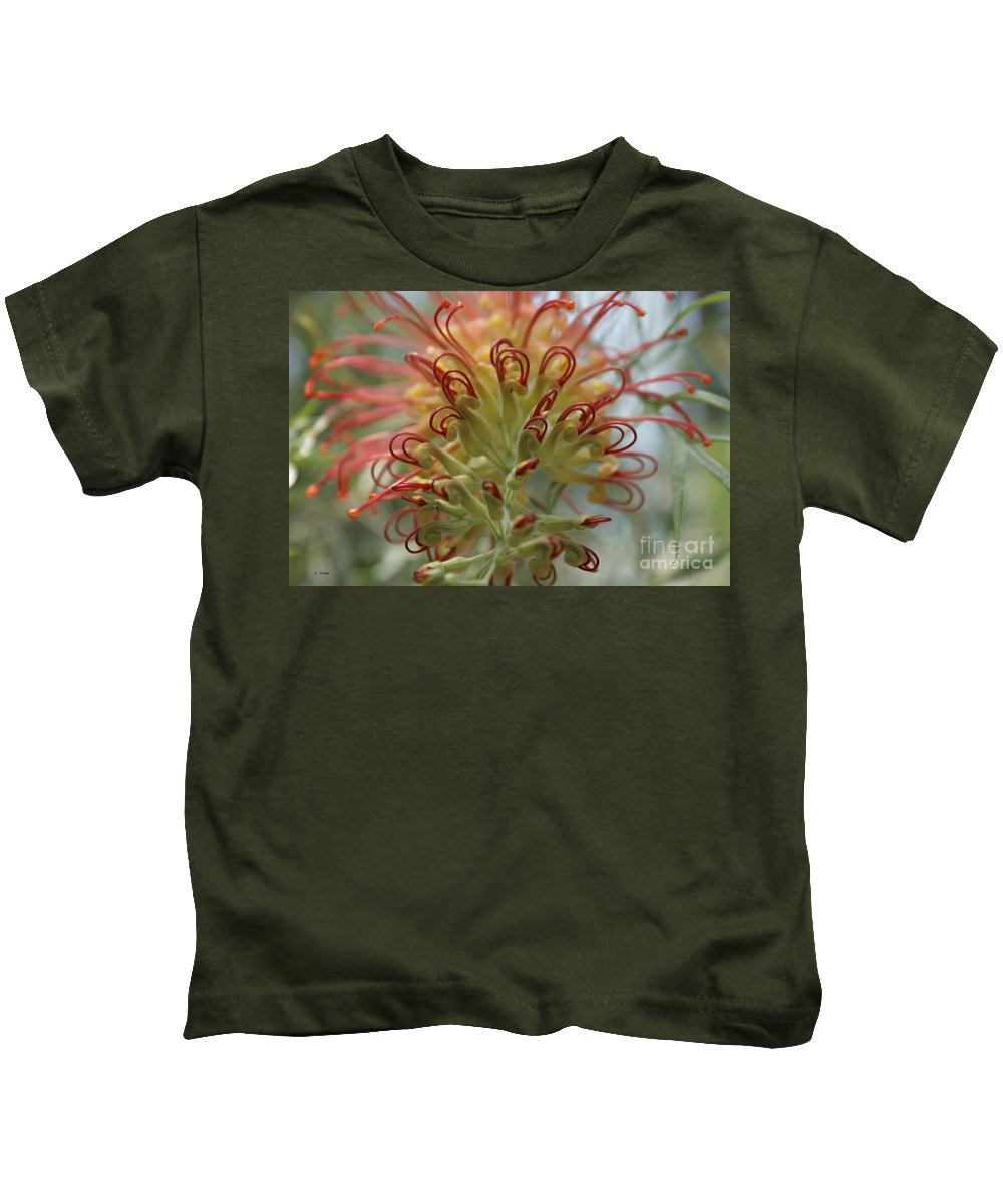 Floral Kids T-Shirt featuring the photograph Like Stems Of A Cherry by Shelley Jones