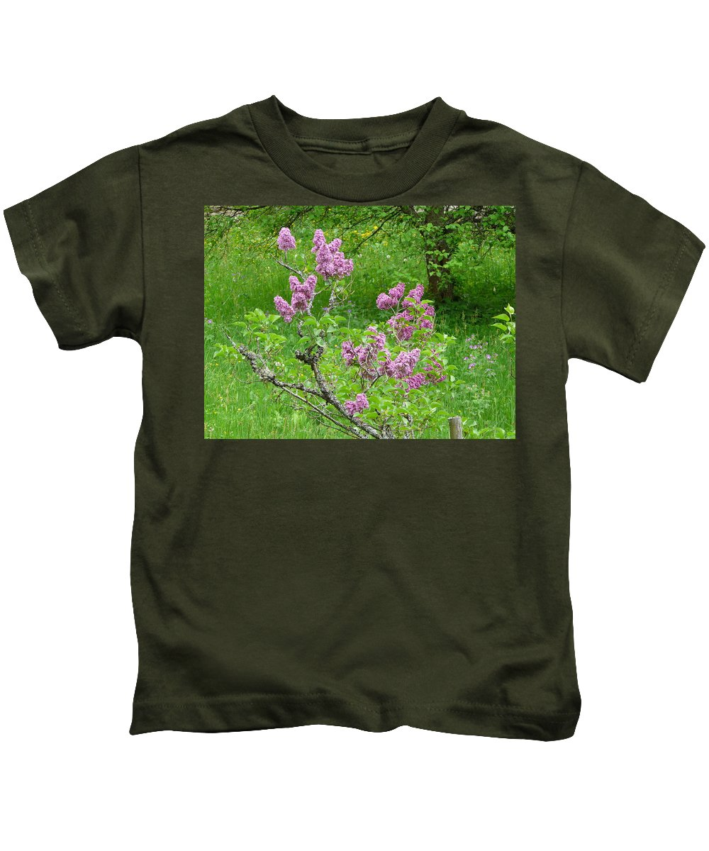 Flower Kids T-Shirt featuring the photograph Lilac In The Spring Meadow by Valerie Ornstein