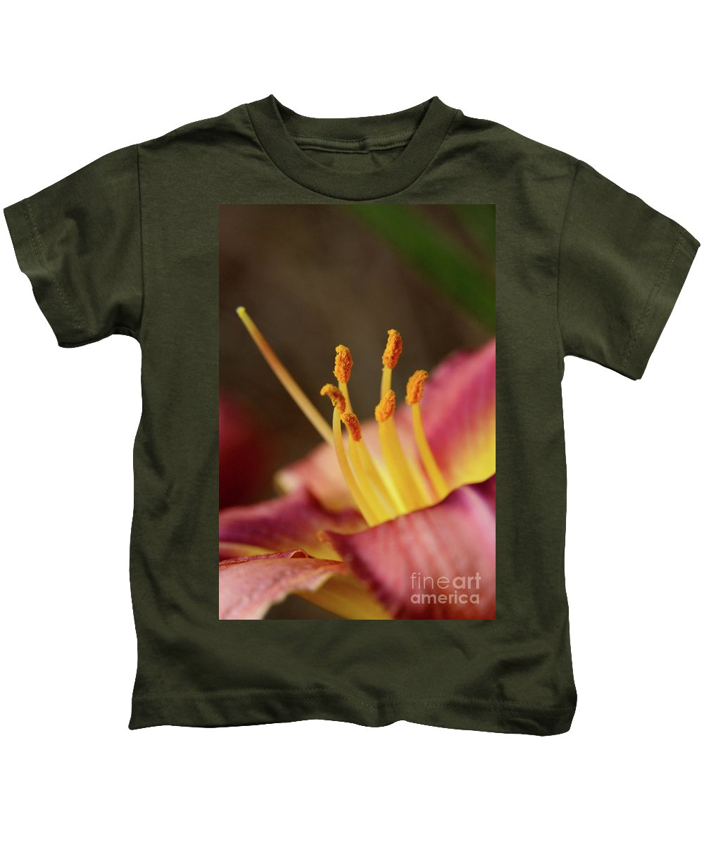 Arrangement Kids T-Shirt featuring the photograph Lily Bloom by Alan Look