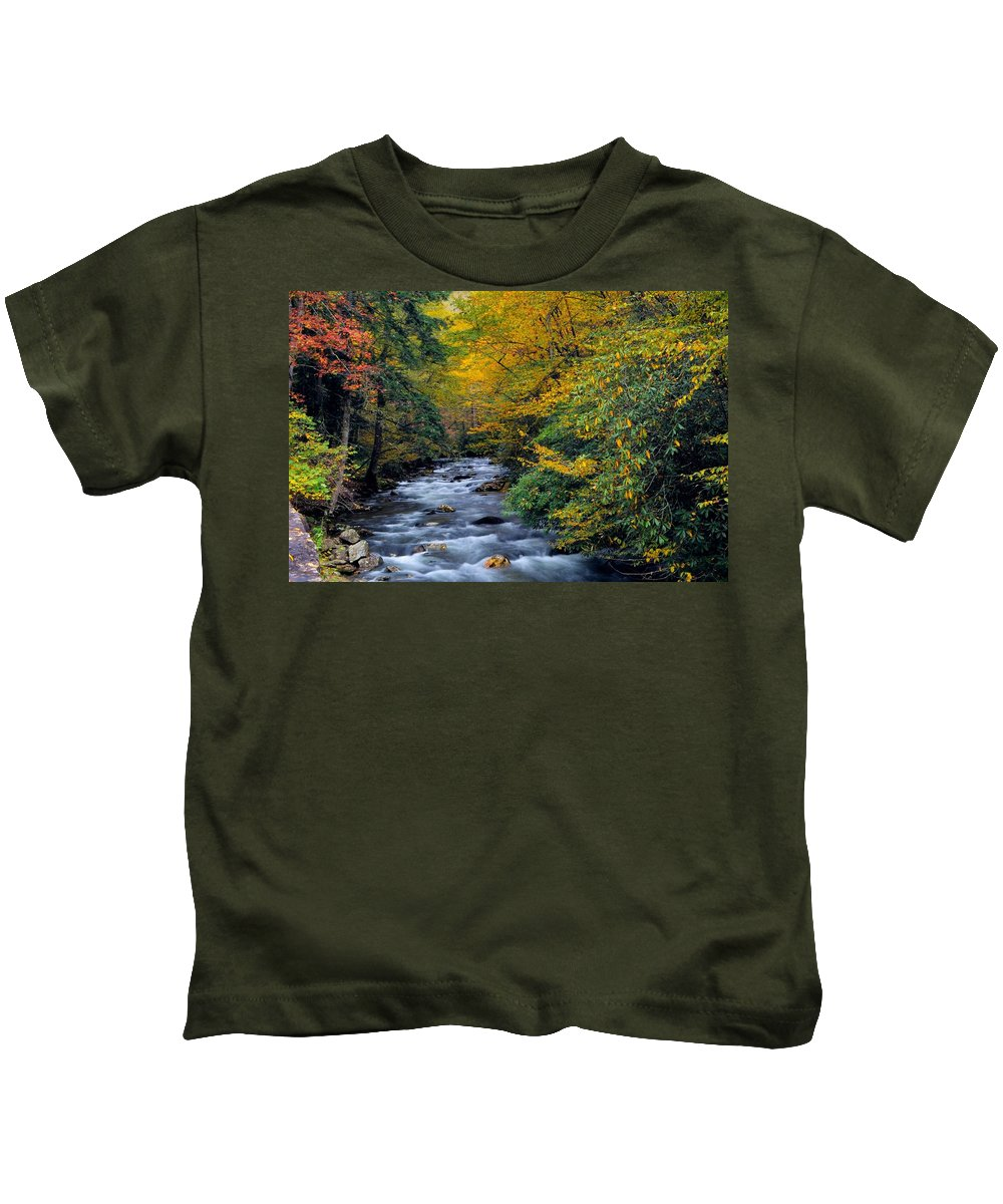Little River Kids T-Shirt featuring the photograph Little River by Dennis Nelson