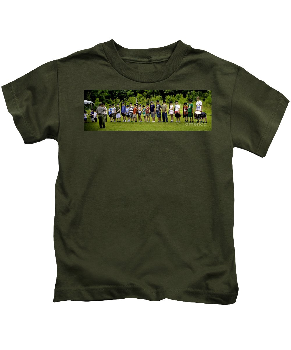 Boys Kids T-Shirt featuring the photograph Little Soldiers by Madeline Ellis