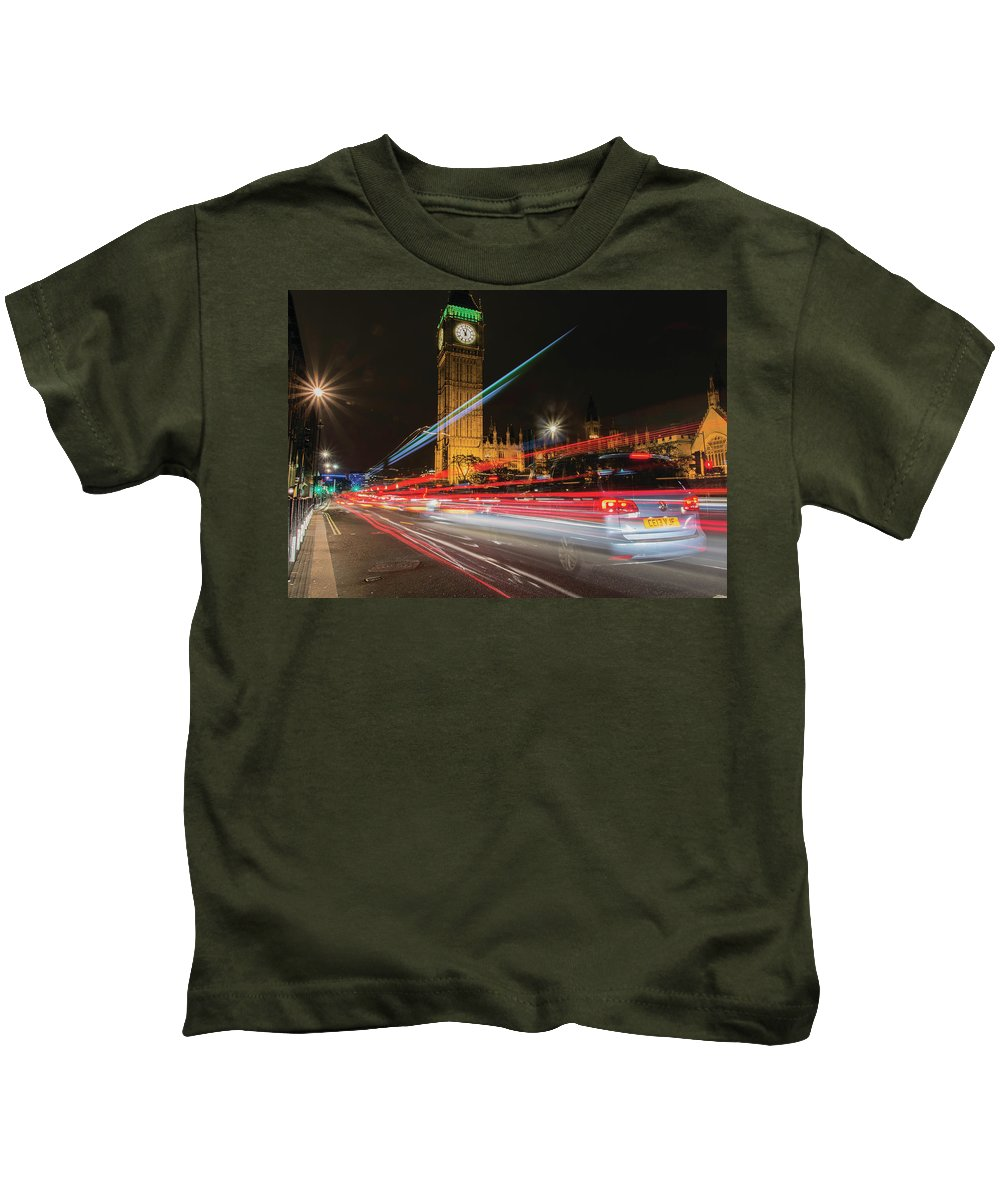 London Kids T-Shirt featuring the photograph London Lit by Christopher Carthern